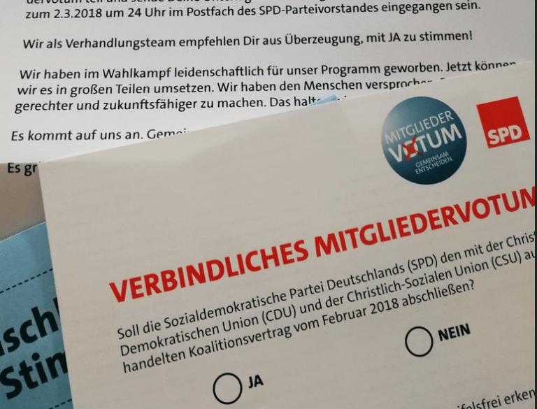 Der Perspektivwechsel am Morgen: SPD-Mitgliederentscheid