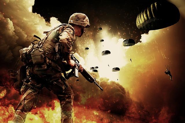 Das Militär spielt mit